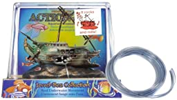 Action Air® Rocking Half-Shipwreck Live-Action Aerating Aquarium Ornament w/Bonus Tubing