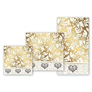 Michel%20Design%20Works Michel Design Works Gold Love Lunch Napkin at Sears.com