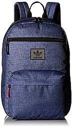 adidas Originals National Backpack, One Size, Denim Print/Black/Red