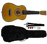 Mini Kids Acoustic Toy Guitar Kit Gig Bag + Picks + Strap + Tuner (Coffee)