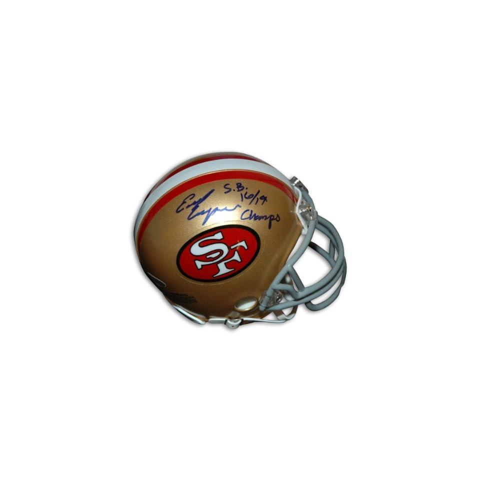 Earl Cooper Autographed San Francisco 49ers Mini Helmet Inscribed SB16/19 Champs
