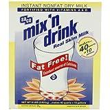 Saco Mix 'n Drink, Instant Non-Fat Dry Milk, (makes 40 quarts), 8-Pound Box ~ Saco