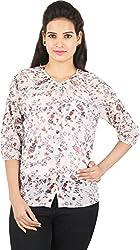 Amadeo Women's 3/4 th Sleeve Top (KRISHA31, Off White, Large)