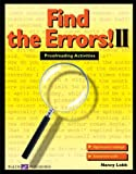Find the Errors! II: Proofreading Activities (Walch Reproducible Books)