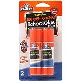Elmer's Repositionable School Glue Sticks, 0.53 oz Each, 2 Sticks per Pack (E627)