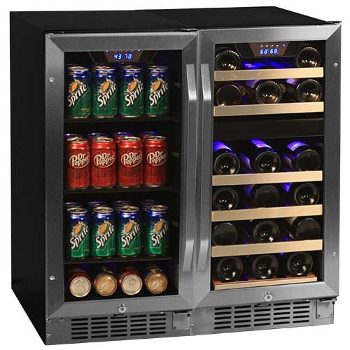 Best Price Edgestar 26 Bottle + 80 Can Side-by-Side 30 Wide Wine & Beverage Center