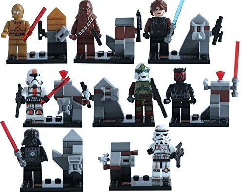 New Adventure Star Wars Jedi Knight Darth Vader Darth Maul Anakin Skywalker Stormtrooper Minifigures Building Brick Blocks Toy for Children, 8Pcs/Set ABS Plastic Multi-color
