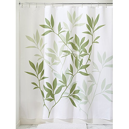 Interdesign Leaves Fabric Shower Curtain 180 X 180 Cm