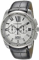 Cartier Men's W7100046 Analog Display Automatic Self Wind Black Watch