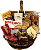 Office Party Gift Basket with Martinelli's Sparking Apple Cider (non-alcoholic)