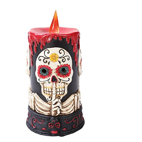 Day of the Dead Skull LED Candle