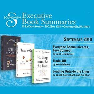 Soundview Executive Book Summaries, September, 2010 | [John C. Maxwell, Kevin Maney, Jon R. Katzenbach, Zia Khan]