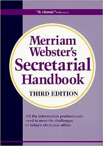Merriam-Webster's Secretarial Handbook (Third Edition)