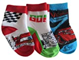Disney Pixar Car Boys' 1/4 Crew Socks - 3 Pair