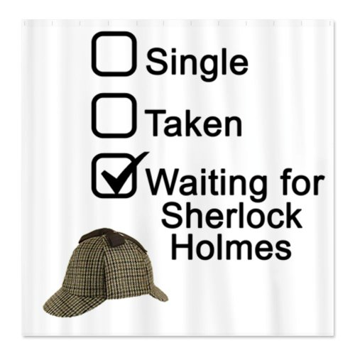Waiting for Sherlock Shower Curtain