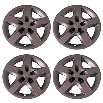 Set of 4 Silver 17 Inch Aftermarket Replacement Hubcaps with Bolt On Retention System - Part Number: IWC435/17S