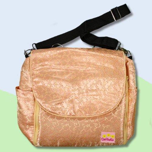 Gold Vines Silk Boutique Diaper Bag front-304268