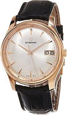 Eterna Heritage Vaughan Big Date Men's Swiss Automatic Rose Gold Watch 7630.69.10.1186
