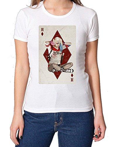 Suicide Squad Harley Quinn Playing Card Fan Art maglietta da donna Small