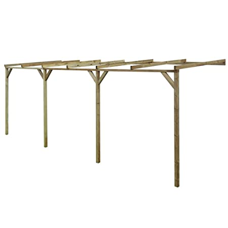 vidaXL Pérgola de madera con techo inclinado, 2 x 6 2,2 m