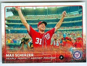 Max Scherzer baseball card (Washington Nationals) 2015 Topps #US169 No Hitter