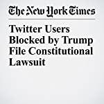 Twitter Users Blocked by Trump File Constitutional Lawsuit   Charlie Savage