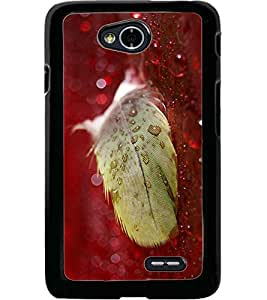 ColourCraft Lovely Feather Design Back Case Cover for LG L70