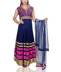 Amitas Boutique Partywear dress Colour Blue