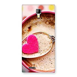 Enticing Pink Love Coffee Multicolor Back Case Cover for Micromax Canvas Xpress A99
