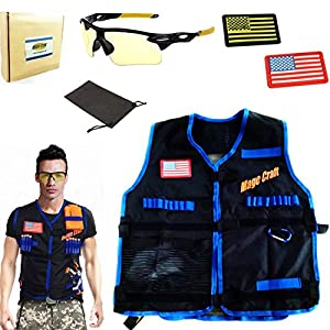 Amazon.com: Magecraft Elite Tactical Vest Kit for Nerf N