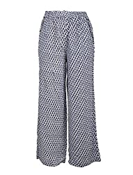 Chicabelle Girls' Palazzo Pants (CH-32C_Navy White_10-12 Years)