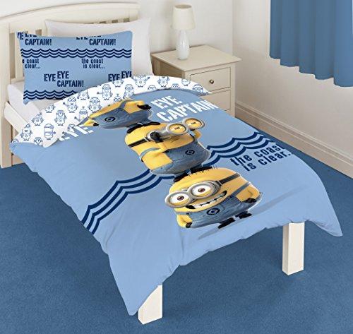 Minions - Set per letto singolo con copripiumino e federa, motivo: Minions