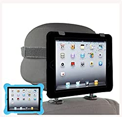 iPad Car Headrest Mount. Holder Fits Apple iPad 2, 3 & 4 Models. Including a silicone protective case (Black)