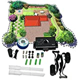 TCBunny® Underground Electric Dog Fence System Waterproof 2 Shock Collars for 2 Dogs
