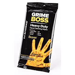 Grime Boss A544R10 Heavy-Duty Hand Cleaning Wipes, 10-Count