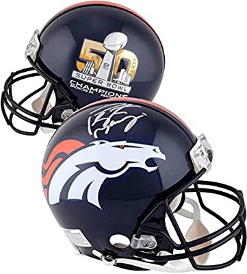 Peyton Manning Denver Broncos Autographed Riddell Super Bowl 50 Champions Pro-Line Helmet - Fanatics Authentic Certified