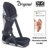 LA Brace® Plantar Fasciitis Night Splint (Large UK 9-14) - Including Dorsiflexion Toe Wedge | Lycra Lined Foam Padded | Achilles Tendonitis , Plantar Fasciitis Overnight Treatment