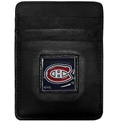 NHL Montreal Canadiens Genuine Leather Money Clip/Cardholder Wallet