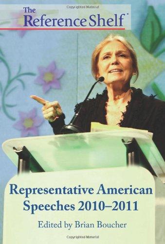 The Reference Shelf - Representative American Speeches 2010-2011