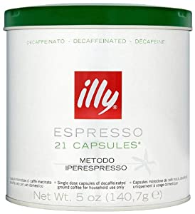 Order illy Decaffeinated Iperespresso Coffee 21 Capsules (Pack of 2, Total 42 Capsules) from Eurdh