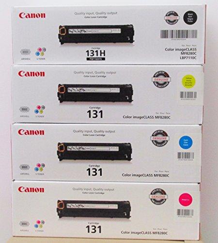 4 New Genuine Canon 131 Black//Cyan//Yellow//Magenta  Introductory Toner Cartridges
