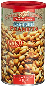 Superior Nut Hickory Flavor Smoked Peanuts, 26-Ounce Canisters (Pack of 6)