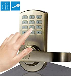 assa abloy digi electronic keyless touchpad keypad door lock password code op. Black Bedroom Furniture Sets. Home Design Ideas