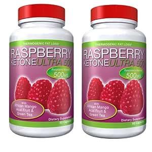 Raspberry Ketone ULTRA 500   (120 gélules) - Vu à la télé!