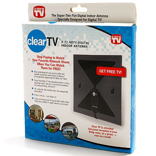 Clear Tv Hd Digital Antenna No More Cable Bills As Seen On Tv For Camping & Home On Sale Til Midnight