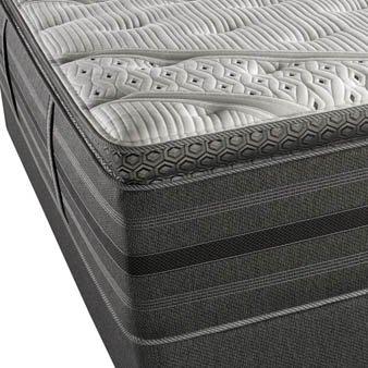 Queen Simmons Beautyrest Black Kate Plush Pillow Top Mattress front-1079144