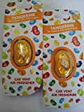 2 x Jelly Belly Bean Car Vent Air Freshener Freshner Fragrance - TANGERINE