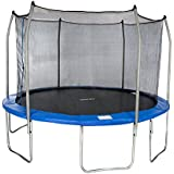 Merax 15FT 12FT Round Trampoline and Safety Enclosure Set with Spring Pad