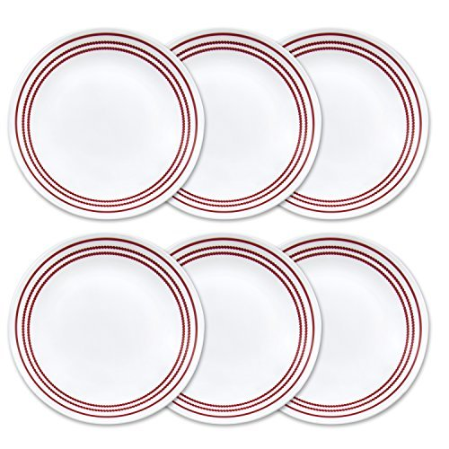 Corelle Livingware 10.25 6-Piece Dinner Plate Set, Ruby Red by CORELLE (Ruby Red Corelle compare prices)