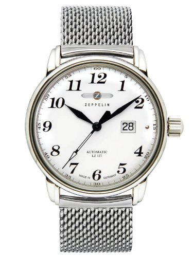 Zeppelin Watches Herren-Armbanduhr XL Analog Automatik Edelstahl 7652MS-1